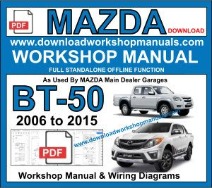 Mazda BT50 Workshop Service Repair Manual PDF